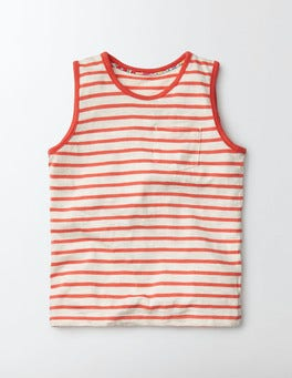 Ivory/Coral Crush Stripe Stripy Holiday Vest