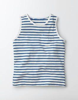 Ivory/Island Sapphire Stripe Stripy Holiday Vest