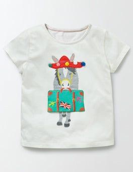 Ivory Donkey Holiday Appliqué T-shirt