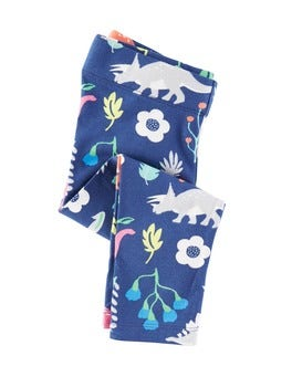 Imperial Blue Florasaurus Florasaurus Cropped Leggings