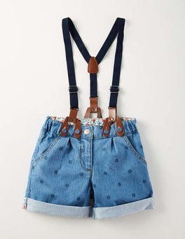 Light Denim Spot Everyday Shorts