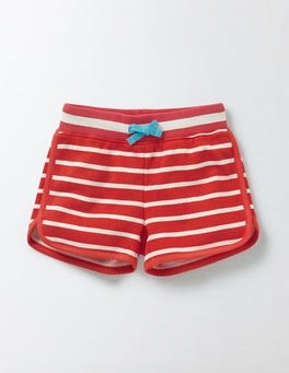 Coral Crush/Ivory Stripe Retro Shorts