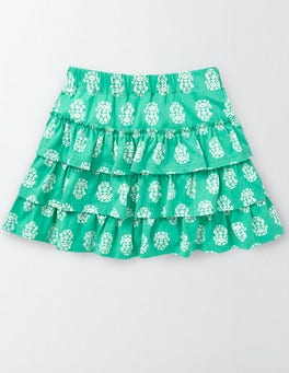 Soft Jade Woodblock Summer Skort