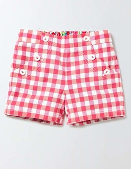 Coral Crush/Mid Pink Check Bright Adventure Shorts