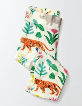 Multi Tropical Garden Printed Cropped Leggings