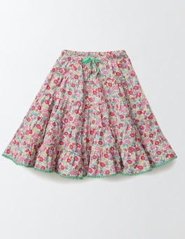 Pink Fizz Flower Bed Twirly Woven Skirt