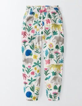 Multi Tropical Garden Printed Trousers