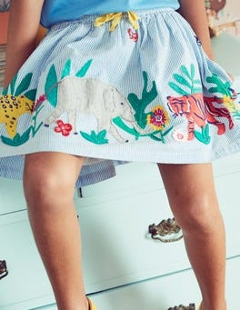 Jungle Appliqué Skirt