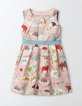 Multi Animal Kingdom Vintage Dress