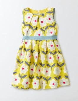 Cantaloupe Flower Stamp Vintage Dress