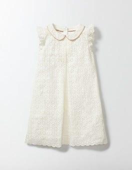 Ecru Broderie Collar Dress