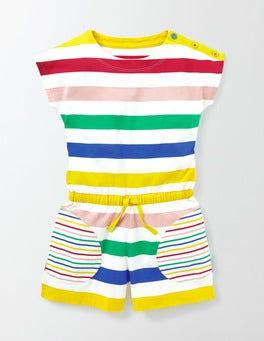 Rainbow Multi Stripe Colourful Jersey Romper