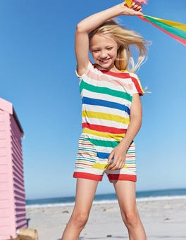 Colourful Jersey Playsuit