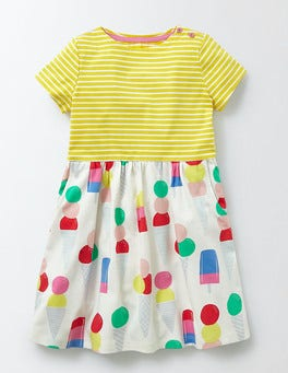 Multi Ice Creams Summer Hotchpotch Jersey Dress