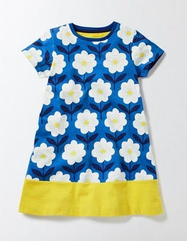 Skipper Flower Stamp Flowery Jersey Dress