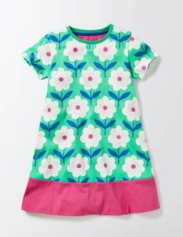 Mint Flower Stamp Flowery Jersey Dress