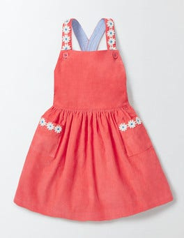Coral Crush Twirly Pinafore Dress