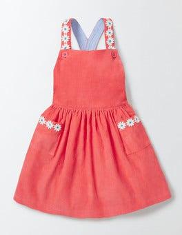 Coral Crush Twirly Pinafore Dress