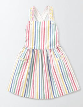 Candy Stripe Twirly Pinafore Dress