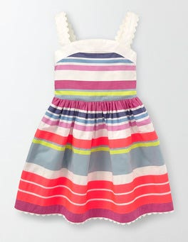 Neon Stripe Fifties Summer Dress