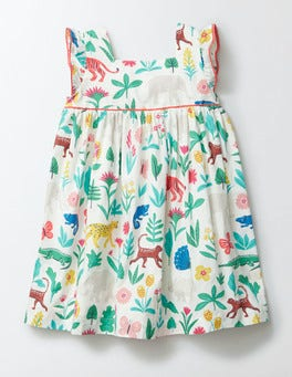 Multi Tropical Garden Printed Woven Dress