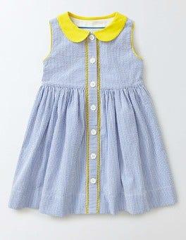Island Sapphire Stripe Nostalgic Woven Dress