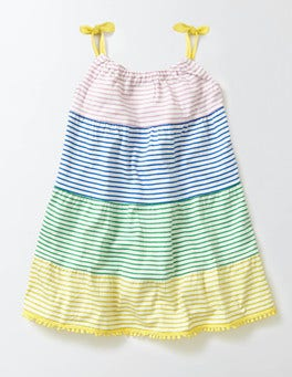 Multi Hotchpotch Stripe Jersey Sundress