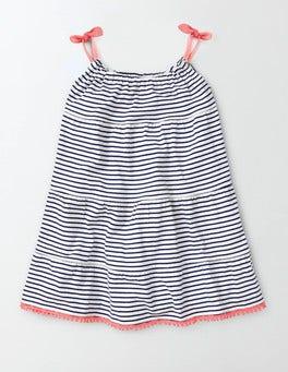 Ivory/Starboard Stripe Jersey Sundress