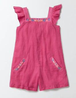 Mid Pink Floaty Woven Playsuit