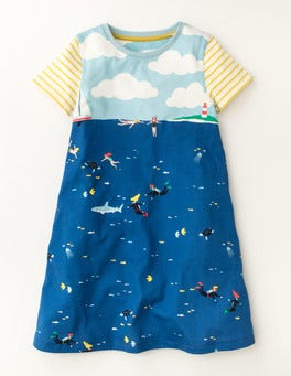 Pool Blue Underwater Explorers Underwater Jersey Dress