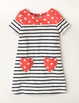 Starboard Blue/Coral Crush Summer Heart Pocket Dress