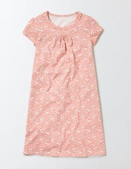 Peach Sorbet Bunny Printed Nightie