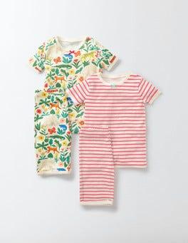 Multi Tropical Garden Twin Pack Short Johns