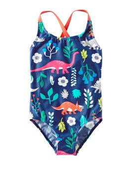 Imperial Blue Florasaurus Florasaurus Fun Swimsuit