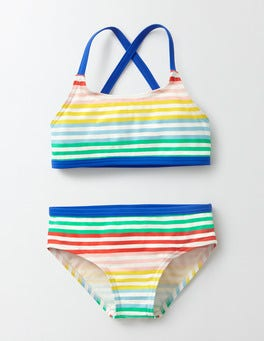 Rainbow Stripe Into-the-Sea Bikini