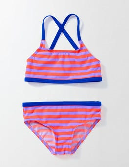Purple/Neon Stripe Into-the-Sea Bikini