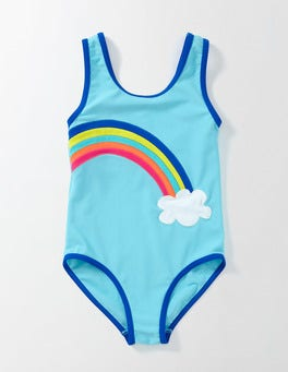 Light Blue Rainbow Printed Swimsuit