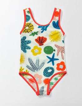 Multi Anenome Printed Swimsuit