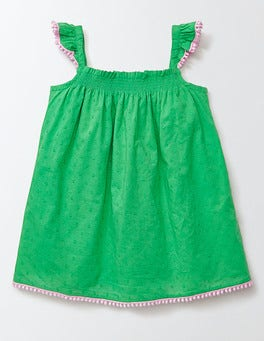 Mint Smocked Woven Top