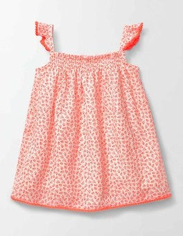 Etched Berry Smocked Woven Top