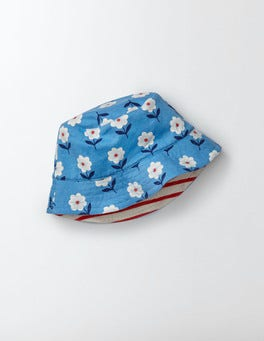Bright Bluebell Flower Stamp Jersey Reversible Hat
