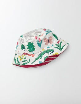 Multi Tropical Garden Jersey Reversible Hat