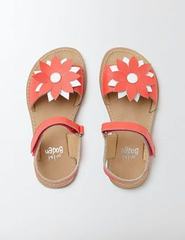 Coral Crush Holiday Sandals