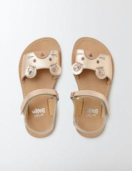 Rose Gold Holiday Sandals