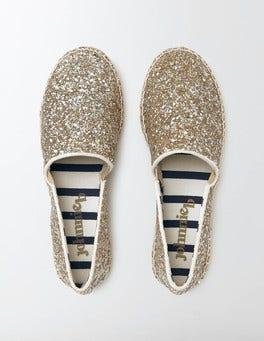 Silver/Gold Glitter Espadrilles