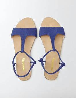 Klein Blue Leather Sandals