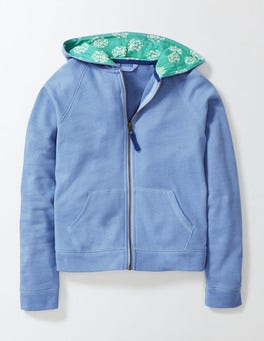 Hazy Blue Zip Through Hoody