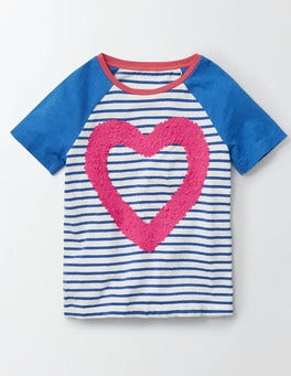 Ivory/Skipper Stripe Heart Kendal T-shirt