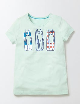 Azure Mist Beach Bunnies Antonia T-shirt