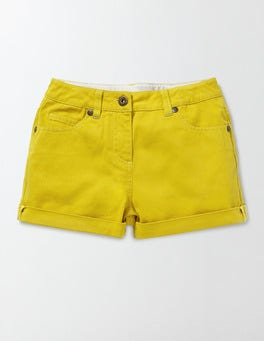 Mimosa Yellow Denim Shorts